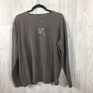 Life is Good Gray L/S Tee Woman and Her Dog